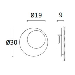 Diagrama aplique de pared Guau GU06 pequeño de Arturo Álvarez