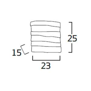 Diagrama aplique de pared Kala KL06 de Arturo Álvarez