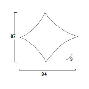 Diagrama aplique de pared Kite KT06 de Arturo Álvarez