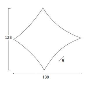 Diagrama aplique de pared Kite KT06 grande de Arturo Álvarez
