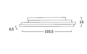 Diagrama aplique de pared Li LI06 grande de Arturo Álvarez