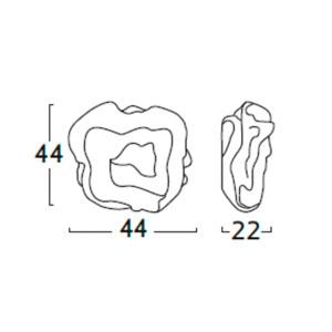 Diagrama aplique de pared Nevo NE06 grande de Arturo Álvarez