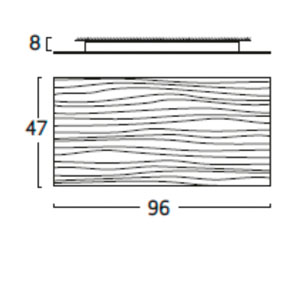 Diagrama aplique de pared Planum PM06 pequeño de Arturo Álvarez