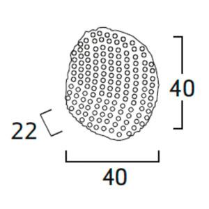Diagrama aplique de pared Tati TA06 grande de Arturo Álvarez