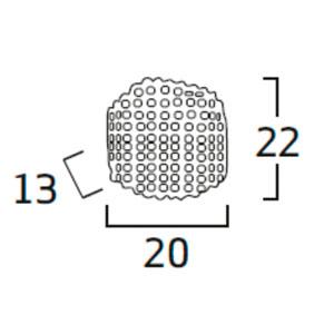 Diagrama aplique de pared Tati TA06 pequeño de Arturo Álvarez