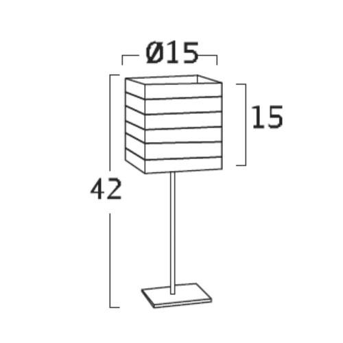 Diagrama Lámpara de mesa Cebra de Arturo Álvarez
