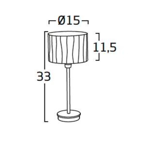Diagrama lámpara de mesa Curvas CV01 de Arturo Álvarez