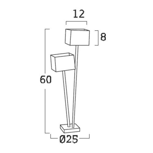 Diagrama lámpara de mesa Doscubos DO02 de Arturo Álvarez