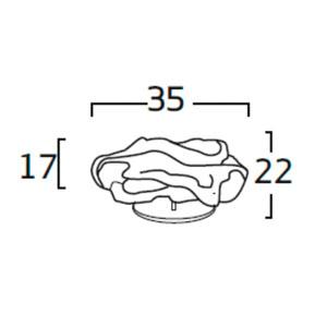 Diagrama lámpara de mesa Nevo NE01 de Arturo Álvarez