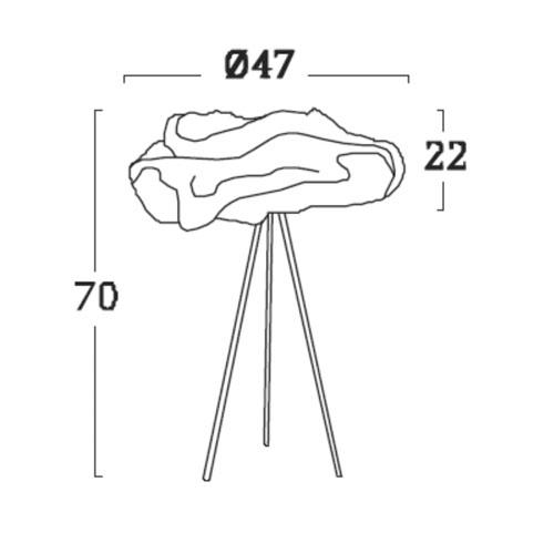 Diagrama lámpara de mesa Nevo NE02 de Arturo Álvarez