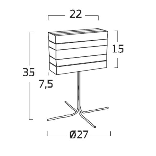 Diagrama lámpara de mesa Norman NO01 de Arturo Álvarez