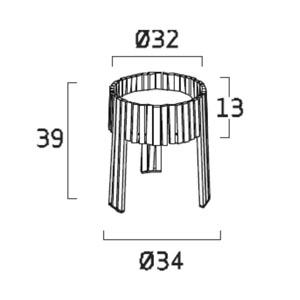 Diagrama lámpara de mesa Shio SH02 de Arturo Álvarez