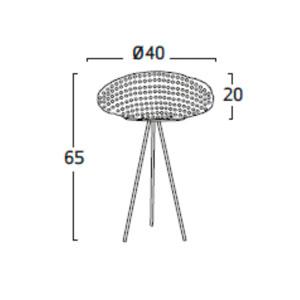 Diagrama lámpara de mesa Tati TA02 de Arturo Álvarez