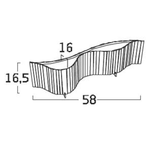 Diagrama lámpara de mesa Vento Pop VN01POP de Arturo Álvarez