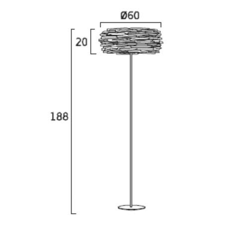 Diagrama lámpara de pie Aros AR03G de Arturo Álvarez