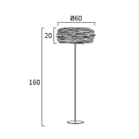 Diagrama lámpara de pie Aros AR03 de Arturo Álvarez