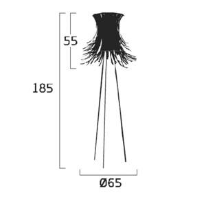 Diagrama lámpara de pie Bety BE03 de Arturo Álvarez