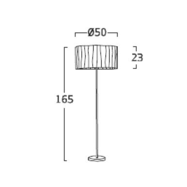 Diagrama lámpara de pie Curvas CV03G de Arturo Álvarez