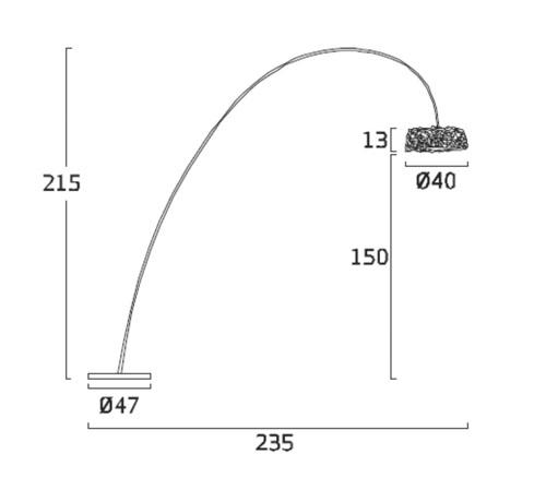 Diagrama lámpara de pie Miuu MI03 de Arturo Álvarez