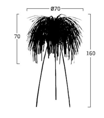 Diagrama lámpara de pie Tina TN03 de Arturo Álvarez