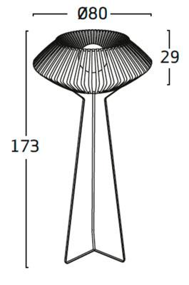 Diagrama lámpara de pie V VV03 de Arturo Álvarez