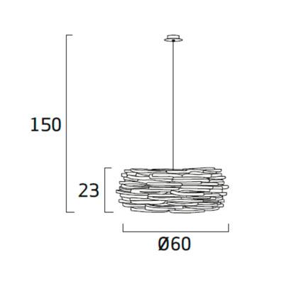 Diagrama lámpara de techo Aros AR04 de Arturo Álvarez
