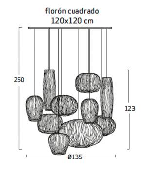 Diagrama lámpara de techo Coral CO04-10 de Arturo Álvarez