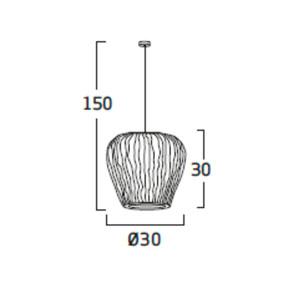 Diagrama lámpara de techo Coral Cay COCY04 de Arturo Álvarez