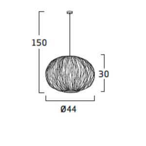 Diagrama lámpara de techo Coral Seaurchin COAU04 de Arturo Álvarez