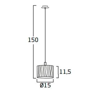 Diagrama lámpara de mesa Curvas CV04 pequeña de Arturo Álvarez