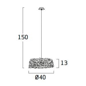 Diagrama lámpara de techo Miuu MI04 de Arturo Álvarez