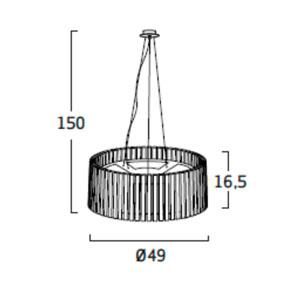 Diagrama lámpara de techo Shio SH04 grande de Arturo Álvarez