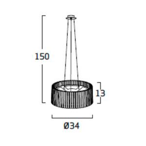 Diagrama lámpara de techo Shio SH04 pequeño de Arturo Álvarez