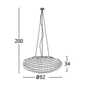 Diagrama lámpara de techo Tati TA04 grande de Arturo Álvarez