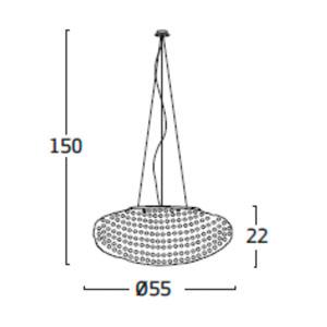 Diagrama lámpara de techo Tati TA04 mediana de Arturo Álvarez