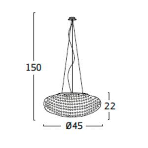 Diagrama lámpara de techo Tati TA04 pequeña de Arturo Álvarez