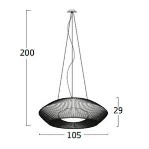 Diagrama lámpara de techo V VV04 grande de Arturo Álvarez
