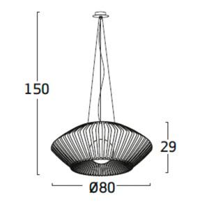 Diagrama lámpara de techo V VV04 pequeña de Arturo Álvarez