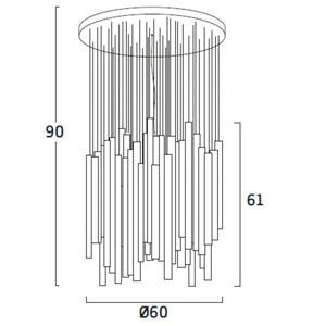 Diagrama lámpara de techo Woods WDN04 de Arturo Álvarez