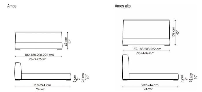 Diagrama cama Amos de Bonaldo