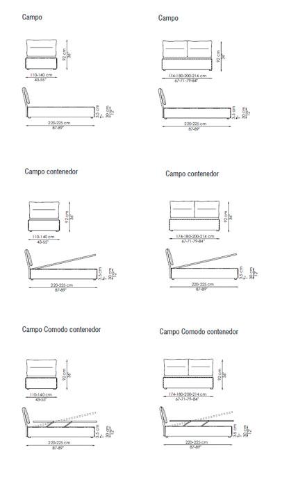 Diagrama cama Campo de Bonaldo
