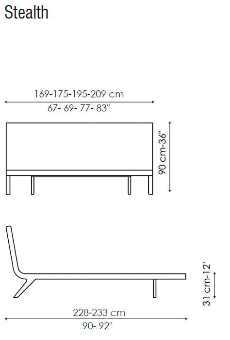 Diagrama cama Stealth de Bonaldo