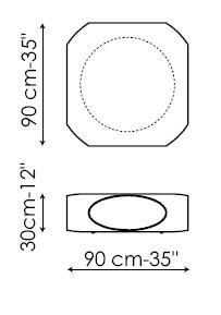 Diagrama de mesita de centro Pebble de Bonaldo premiada con el Good Design Award 2010