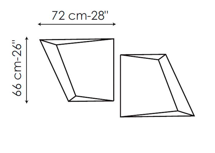 Diagrama espejo de diseño Azero de Bonaldo