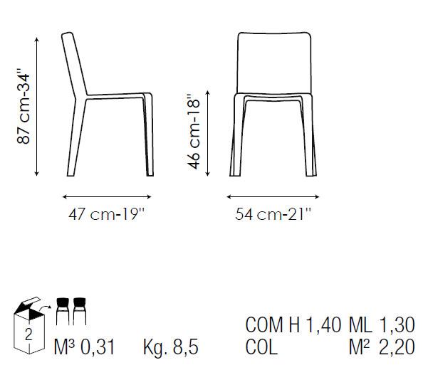 silla de comedor my time bonaldo