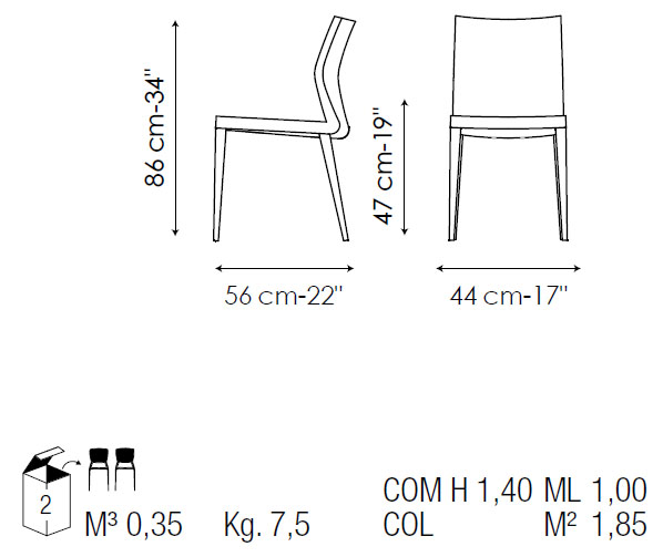 silla de comedor razor de bonaldo