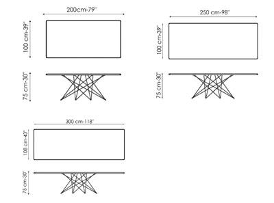 Diagrama mesa de diseño Octa de Bonaldo