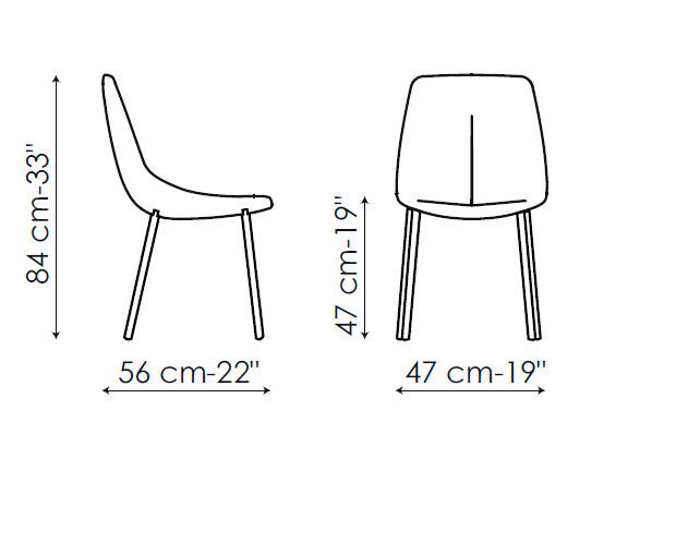 Diagrama silla de piel By met de Bonaldo