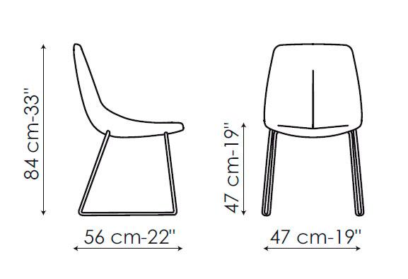 Diagrama silla de piel By si de Bonaldo