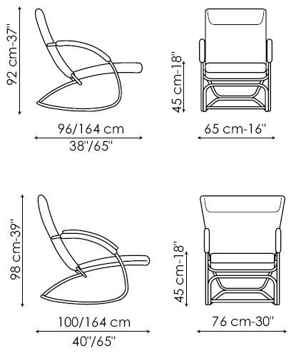 Diagrama de butaca Swing de Bonaldo